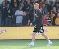 Northampton Town manager Chris Wilder leaves the field at full-time<br /> <br /> Photographer Kevin Barnes/CameraSport<br /> <br /> Football - The Football League Sky Bet League Two - Newport County AFC v Northampton Town - Saturday 13th September 2014 - Rodney Parade - Newport<br /> <br /> © CameraSport - 43 Linden Ave. Countesthorpe. Leicester. England. LE8 5PG - Tel: +44 (0) 116 277 4147 - admin@camerasport.com - www.camerasport.com