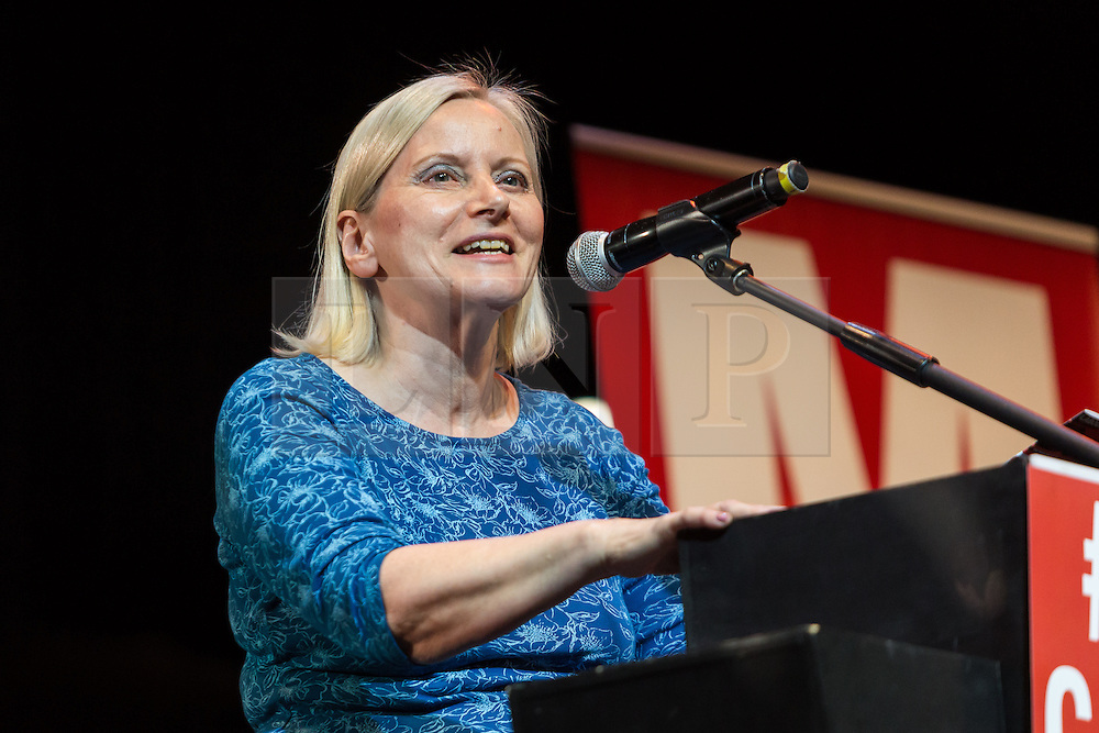 © Licensed to London News Pictures. 07/07/2016. LONDON, UK.  Labour Party NEC, CHRISTINE SHAWCROFT speaking at a rally in support of keeping Jeremy Corbyn remaining the Labour party leader at the Troxy in east London on 6th July 2016. The event was organised by Momentum, a group of Labour Party supporters who are campaigning for Jeremy Corbyn to remain as leader of the Labour Party, following the recent resignation of many shadow cabinet MP's and the growing likelihood of a Labour Party leadership challenge..  Photo credit: Vickie Flores/LNP