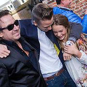 NLD/Laren/20130103 - Huwelijk Laura Ruiters, Marco Borsato en zoon Luca en dochter Jada