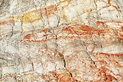 Clay formation detail, Gay Head, Aquinnah, Martha's Vineyard, Massachusetts, USA.