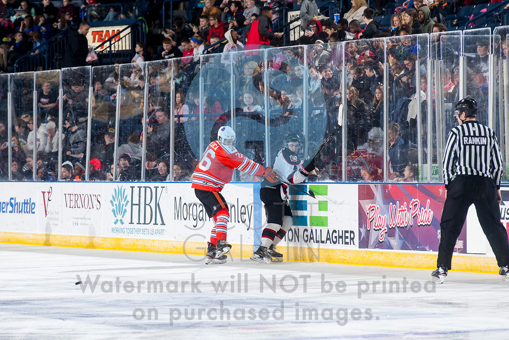 The Youngstown Phantoms lose 5-4 in overtime to the Chicago Steel at the Covelli Centre on February 26, 2020.<br /> <br /> Josh DeLuca, forward, 26