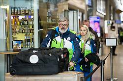 Roman Jakic and Manca Vida prior to the departure of Slovenian Paralympic team for Pyeongchang 2018 Winter Paralympics, on March 3, 2018 in Letalisce Jozeta Pucnika, Brnik, Slovenia. Photo by Vid Ponikvar / Sportida