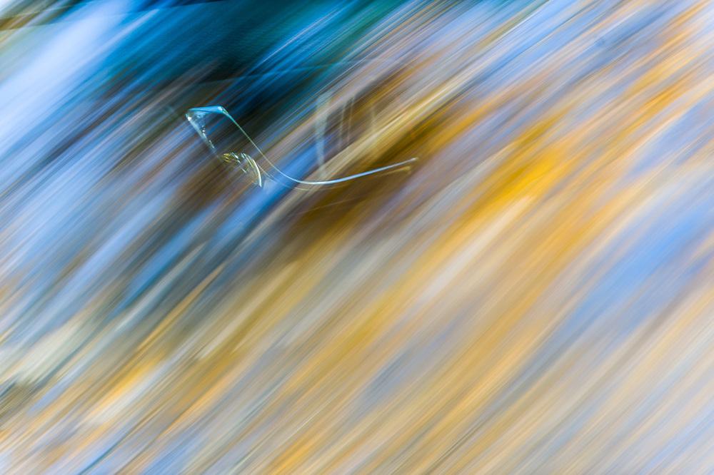 Autumn forest reflection on an automobile windshield,Hubbard County, Minnesota, USA