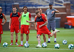 ANN ARBOR, USA - Friday, July 27, 2018: Liverpool's Alberto Moreno during a training session ahead of the preseason International Champions Cup match between Manchester United FC and Liverpool FC at the Michigan Stadium. (Pic by David Rawcliffe/Propaganda)