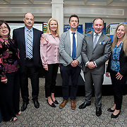 24.05.2018.       <br /> The Limerick Institute of Technology with Atlantic Air Adventures and funding from the Aviation Skillnet presented over forty certificates to Aviation professionals who have completed the Certificate in Aviation, The Aircraft Records Technician Level 7 and Part 21 Design, Level 7.<br /> <br /> Pictured at the event were, Marian Duggan, Dean of Flexible Learning, LIT, Anton Tams, GECAS, Linda Barron, Project Manager<br /> The Irish Centre for Business Excellence, Don Salmon, CAE Parc Aviation, Jim Gavin, The Irish Aviation Authority and Manager of the Dublin Football Team and Jane Magill, Atlantic Air Adventures.<br /> <br /> LIT in partnership with Atlantic Air Adventures, CAE Parc Aviation, Part 21 Design and industry experts such as Anton Tams, GECAS, Don Salmon, CAE Parc Aviation and Mick Malone, Part 21 Design have developed and deliver these key training programmes with funding for aviation companies provided by The Aviation Skillnet.<br /> <br /> . Picture: Alan Place
