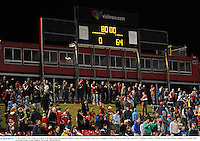 11 June 2013; A view of the scoreboard at the final whistle showing the British & Irish Lions 64 point victory over Combined Country. British & Irish Lions Tour 2013, Combined Country v British & Irish Lions, Hunter Stadium, Newcastle, NSW, Australia. Picture credit: Stephen McCarthy / SPORTSFILE