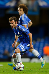 Chelsea Forward Juan Mata (ESP) in action during the second half of the match - Photo mandatory by-line: Rogan Thomson/JMP - Tel: 07966 386802 - 18/09/2013 - SPORT - FOOTBALL - Stamford Bridge, London - Chelsea v FC Basel - UEFA Champions League Group E