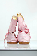 back view of pink winter boots with text World of Snow