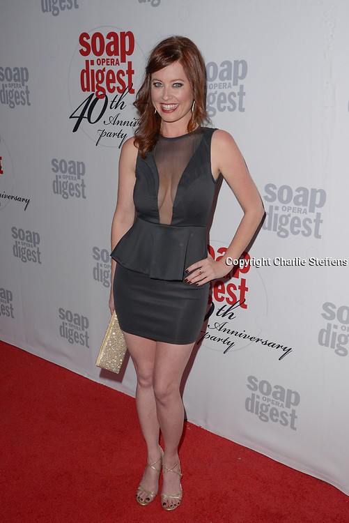 MELISSA ARCHER at Soap Opera Digest's 40th Anniversary party at The Argyle Hollywood in Los Angeles, California