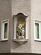 Public art along Milchberg in Augsburg, Bavaria, Germany