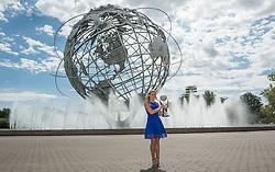 Deutschlands Tennisspielerin Angelique Kerber posiert mit Weltranglistenersten Pokal der WTA nach ihrem Finalsieg gegen K_Pliskova in New York<br /> <br /> / 110916<br /> <br />  ***Angelique Kerber (GER) poses with WTA World No. 1 Trophy at Unisphere on day 14 of the US Open at the Billie Jean King National Tennis Centre in Flushing Meadows New York USA September 11th 2016.****