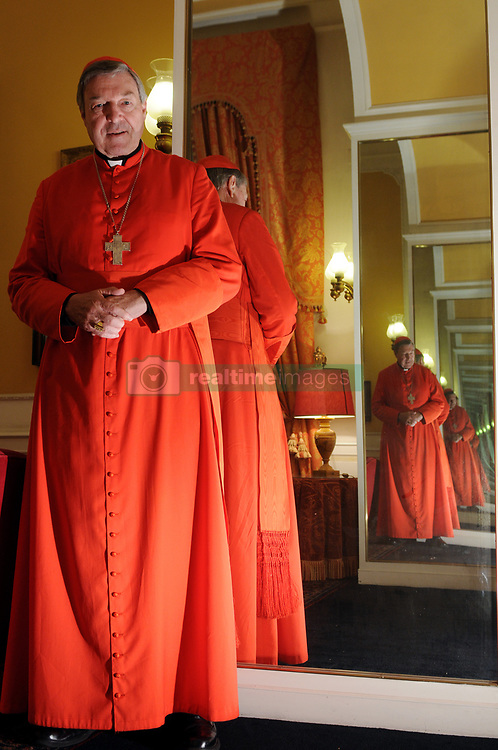 File photo - Australian cardinal George Pell in Rome, Italy on December 2008. Archbishop of Sydney he was created a cardinal in 2003. Cardinal George Pell has been found guilty of sexual offences in Australia, making him the highest-ranking Catholic figure to receive such a conviction. Pell abused two choir boys in the rooms of a Melbourne cathedral in 1996, a jury found. He had pleaded not guilty. The verdict was handed down in December, but it could not be reported until now due to legal reasons. Pell is due to face sentencing hearings from Wednesday. He has lodged an appeal against his conviction. Photo by Eric Vandeville/ABACAPRESS.COM