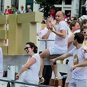 NLD/Amsterdam/20120804 - Canalparade tijdens de Gaypride 2012, boot DNB, Nederlandse Bank