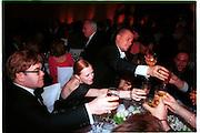 Elton John, Karen Elson and Alexander McQueen. LMH Metropolitan benefit. December 1999. © Copyright Photograph by Dafydd Jones 66 Stockwell Park Rd. London SW9 0DA Tel 020 7733 0108 www.dafjones.com