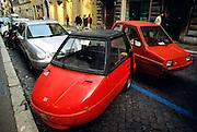 Italy, Rome, smart cars,.
