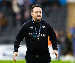 Ospreys' Backs Coach Matt Sherratt<br /> <br /> Photographer Simon King/Replay Images<br /> <br /> European Rugby Champions Cup Round 5 - Ospreys v Saracens - Saturday 11th January 2020 - Liberty Stadium - Swansea<br /> <br /> World Copyright © Replay Images . All rights reserved. info@repMatt Sherratt - Backs Coachlayimages.co.uk - http://replayimages.co.uk