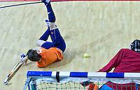ALMERE - Het Nederlands Zaalhockeyteam oefent voor het WK in Polen. ANP COPYRIGHT KOEN SUYK