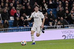 January 24, 2019 - Madrid, Spain - Real Madrid's Alvaro Odriozola during Copa del Rey match between Real Madrid and Girona FC at Santiago Bernabeu Stadium. (Credit Image: © Legan P. Mace/SOPA Images via ZUMA Wire)