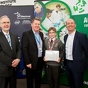 27.04.2016.          <br />  Kalin Foy and Ciara Coyle win SciFest@LIT<br /> Kalin Foy and Ciara Coyle from Colaiste Chiarain Croom to represent Limerick at Ireland's largest science competition.<br /> <br /> Villiers School student, Daniel Farushev's project, Bionicle movement implementation won the LIT INTEL SHANNON AWARD.  Daniel Farushev is  pictured with George Porter, SciFest Pat Collins, Intel and Brian Aherne, Intel<br /> <br /> Of the over 110 projects exhibited at SciFest@LIT 2016, the top prize on the day went to Kalin Foy and Ciara Coyle from Colaiste Chiarain Croom for their project, 'To design and manufacture wireless trailer lights'. The runner-up prize went to a team from John the Baptist Community School, Hospital with their project on 'Educating the Youth of Ireland about Farm Safety'. Picture: Fusionshooters