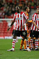 Jason Euell (Southampton) starts the long walk to the dressing room after being sent off<br /> Southampton vs Wolverhampton Wanderers at St Mary's Stadium Southampton. Coca Cola Championship. 15/11/2008.<br /> Credit Colorsport / Shaun Boggust