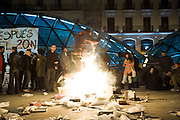 """Anti-establishment group and supporters of the organization 15M gathered in the """"Puerta del Sol"""" in protest at the outcome of elections.<br />  The protest was peaceful."""