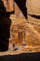 Petra archaeological site (a UNESCO World Heritage site), Jordan.