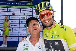 Janko Hrovat and Luka Mezgec (SLO) of Mitchelton - Scott during 3rd Stage of 26th Tour of Slovenia 2019 cycling race between Zalec and Idrija (169,8 km), on June 21, 2019 in Slovenia. Photo by Matic Klansek Velej / Sportida