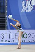 Sabina Ashirbayeva born November 5, 1998 is an individual Kazakh rhythmic gymnast.