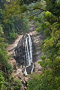 A waterfall in the hills near Munnar, a hill station in Kerala, India