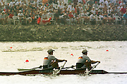 1999 World Rowing Championships St Catherines Canada. GER M2- Bow,Detlef KIRCHHOFF and Robert SENS. [Mandatory Credit Peter Spurrier Intersport Images] 1999 FISA. World Rowing Championships, St Catherines, CANADA