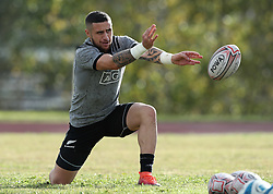 November 20, 2018 - Rome, Italy - Rugby All Blacks training - Vista Norther Tour.TJ Perenara at University Sport Center in Rome, Italy on November 20, 2018. (Credit Image: © Matteo Ciambelli/NurPhoto via ZUMA Press)
