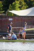 Henley-On-Thames, Berkshire, UK.,  3rd August 2020 Athletes, Crews boating from Leander Club for training,  [Mandatory Credit © Peter Spurrier/Intersport Images], , Training during, the  coronavirus (COVID-19), pandemic,