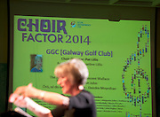 Choir Director Pat Lillis leads Galway Golf Club GGC in Choir Factor 2014 in the Radisson blu Hotel, Galway in aid of SCCUL Sanctuary at Kilcuan, Clarinbridge . Photo:Andrew Downes.