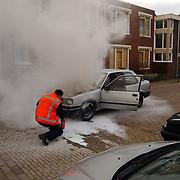 Autobrand Gooierserf Huizen, ANWB blust