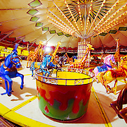 Temporary carousel during Chistmas time
