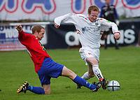 Michael Vadseth, Skeid. Tor Stian Kjøllesdal, Bryne. <br /> <br /> Fotball: Skeid - Bryne 4-2. 1. divisjon 2004. 20. juni 2004. (Foto: Peter Tubaas/Digitalsport)