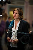 DEU, Deutschland, Germany, Berlin, 06.07.2018: Malu Dreyer (SPD), Ministerpräsidentin von Rheinland-Pfalz, bei einem Interview vor einer Sitzung im Bundesrat.