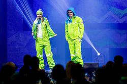 Katja Pozun and Rok Marguc during presentation of Team Slovenia for Sochi 2014 Winter Olympic Games on January 22, 2014 in Grand Hotel Union, Ljubljana, Slovenia. Photo by Vid Ponikvar / Sportida