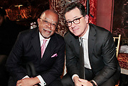 New York, New York- June 6: (L-R) Educator Dr. Henry Louis Gates, Harvard University and Media Personality Stephen Colbert attend the 2017 Gordon Parks Foundation Awards Dinner celebrating the Arts & Humanitarianism held at Cipriani 42nd Street on June 6, 2017 in New York City.   (Photo by Terrence Jennings/terrencejennings.com)