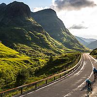 Road bikes. Scotland. Shot on location for Endura.