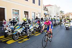 Police during the UCI Class 1.2 professional race 4th Grand Prix Izola, on February 26, 2017 in Izola / Isola, Slovenia. Photo by Vid Ponikvar / Sportida