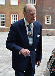 ALTERNATE CROP<br /> The Duke of Edinburgh arriving at Chapel Royal in St James's Palace, London, for an Order of Merit service.