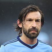 NEW YORK, NEW YORK - March 18:  Andrea Pirlo #21 of New York City FC during the New York City FC Vs Montreal Impact regular season MLS game at Yankee Stadium on March 18, 2017 in New York City. (Photo by Tim Clayton/Corbis via Getty Images)