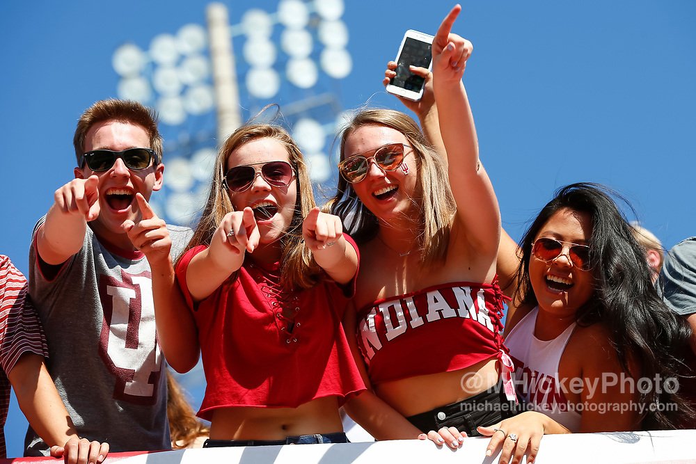 BLOOMINGTON, IN - SEPTEMBER 23: Indiana Hoosiers football fans are seen during the game against the Georgia Southern Eagles at Memorial Stadium on September 23, 2017 in Bloomington, Indiana. (Photo by Michael Hickey/Getty Images)
