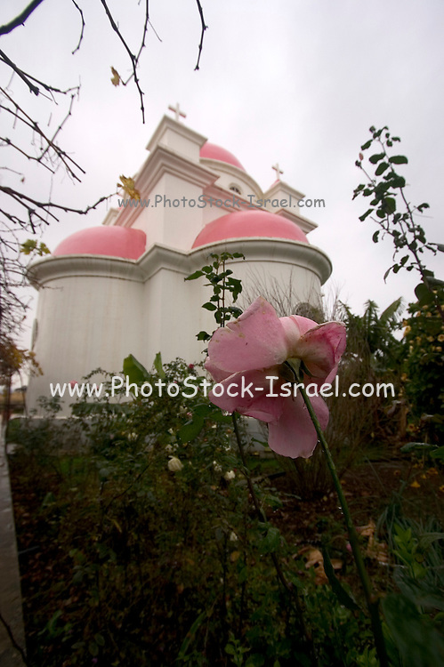 Israel Capernahum sea of galilee, Greek Orthodox the Church of the Twelve Apostles