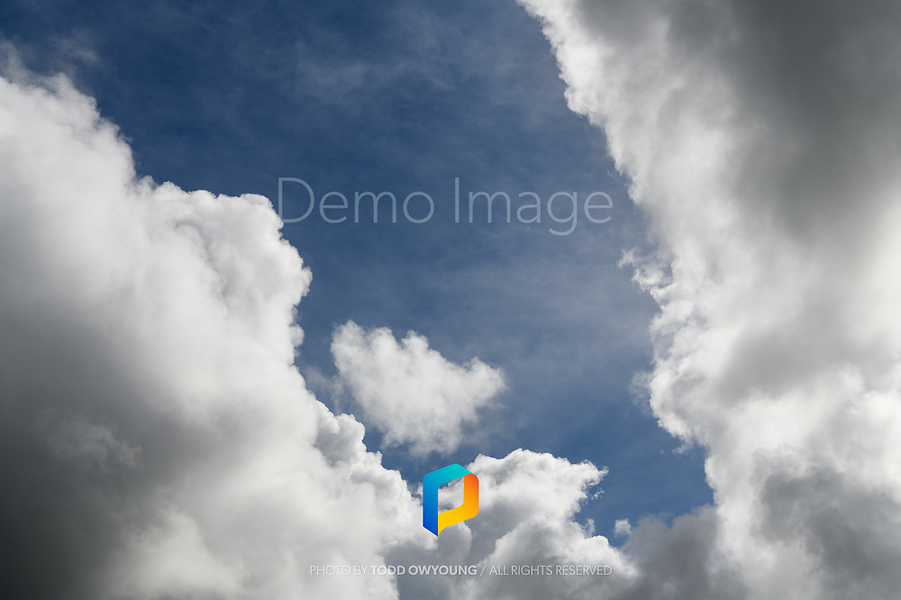 An abstract of clouds photographed in Kauai, Hawaii.