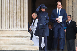 The Duke and Duchess of Cambridge attending the Grenfell Tower National Memorial Service, at St Paul's Cathedral in London, which marked the six month anniversary of the Grenfell Tower fire. Picture date: Thursday December 14th, 2017. Photo credit should read: Matt Crossick/ EMPICS Entertainment.