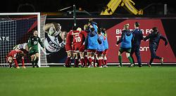 Bristol Academy Women celebrate on the final whistle  - Photo mandatory by-line: Joe Meredith/JMP - Mobile: 07966 386802 - 13/11/2014 - SPORT - Football - Bristol - Ashton Gate - Bristol Academy Womens FC v FC Barcelona - Women's Champions League
