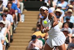 7 July 2017 -  Wimbledon Tennis (Day 5) - Heather Watson (GBR) in action during her 3rd round match - Photo: Charlotte Wilson / Offside.