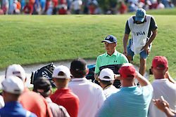 August 9, 2018 - St. Louis, Missouri, United States - Jordan Spieth walks to the next tee during the first round of the 100th PGA Championship at Bellerive Country Club. (Credit Image: © Debby Wong via ZUMA Wire)